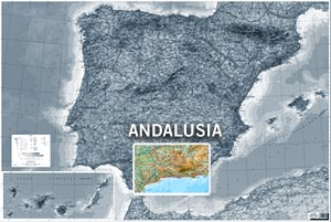 Mapa de Andalusía