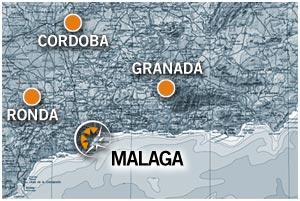 Mapa de alquiler de moto en Andalusía