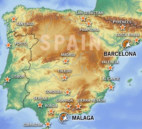 BMW Motorradmiete in Malaga und Barcelona