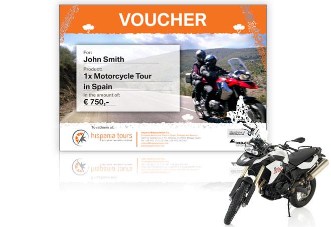Vale de regalo ruta en moto y alquiler